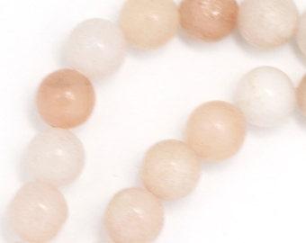 Pink Aventurine Beads - 8mm Round - Half Strand