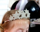 Sparkle Star TIARA CROWN headband made with german glass glitter on a skinny metal headband perfect for anytime you want to sparkle