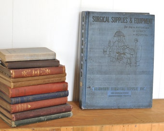 1950's Surgical Supply Catalog Mid Century Hospital & Physicians Equipment Retro Steampunk Tools Furniture Photos Pictorial Pharmaceutical