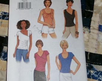 2002 Butterick Pattern 3391 for Misses Top Size  6, 8, 10,  Uncut