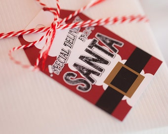 Santa Tags - Special Delivery from Santa - Instant Download by Beth Kruse Custom Creations