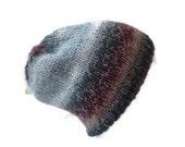 Womens Slouchy Hat, Knit Beanie, Knit Slouch Hat, Winter Hat