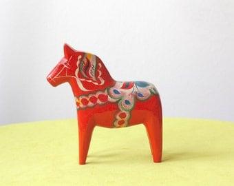 "Vintage 6"" Swedish Traditional Olsson Dala Horse"