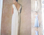 SALE FACTORY FOLDED Elegant Formal Dress Pattern McCalls 2110 - Uncut Sewing Pattern Size 4, 6, 8