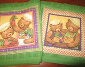TERESA KOGUT Teddy Bear Chef Dish Towels All Cotton