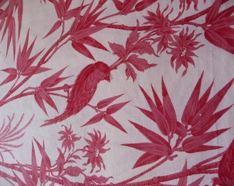 """antique french toile de jouy style fabric 2 PIECES EACH  32"""" X 16"""""""