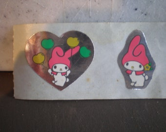 Original Vintage Unused 1980's Sanrio Hello Kitty Stickers - Set Of Three