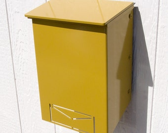 Custom Mailbox No. 1011 Wrap-Front in Powder Coated Aluminum Icon Edition