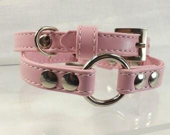 O ring cuffs day slave cuff bracelets mature bdsm restraints