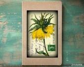 "Botanical Art Journal or Sketchbook: 8x5"" Recycled Lined Notebook or Unlined Blank Sketchbook, art journal, ""Vintage Flower - Sunflower"""