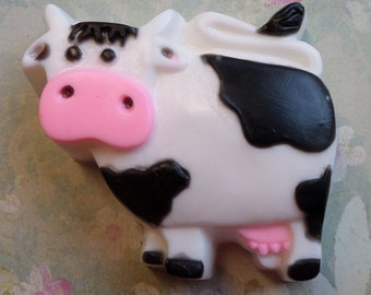 COW Soap Bar Farm Holstein Dairy Cattle Handcrafted Glycerin Soap U Pick Color & Scent