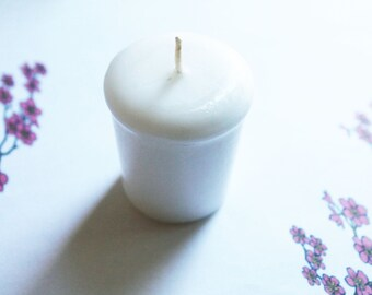 Japanese Cherry Blossom Scented Votive Candle - Paraffin Wax - Home Decor - Wedding Candles - Birthday Candles - Candle Favors