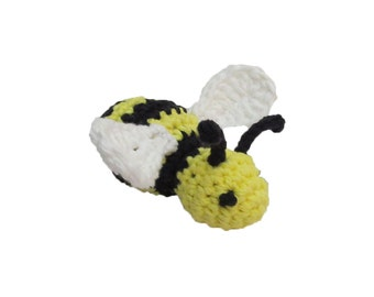 Rattle or Jingle Bell Bumblebee Cat Toy