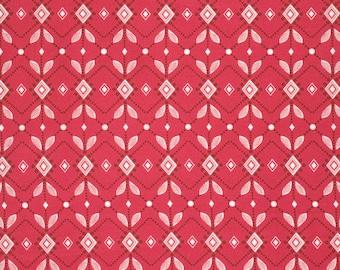 Diamond Mine in Pomegranate PWAH090 - FOLK SONG by Anna Maria Horner - Free Spirit Fabric  - 1 Yard