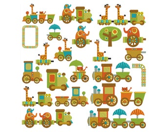 CHOO TRAIN RIDE - Machine Embroidery - Instant Digital Download
