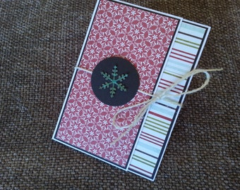 Christmas Cards with twine set of 3