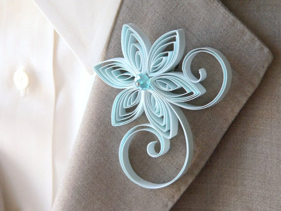 Baby Blue Boutonniere, Pastel Blue Buttonhole, Light Blue Wedding, Capri, Bridal Boutonniere, Buttonhole Flower Ideas, Flower Pins