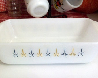 Vintage Anchor Hocking  Fire King Candle Glow Casserole Dish #441 1 quart