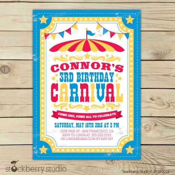 Carnival Invitation Printable Carnival by stockberrystudio