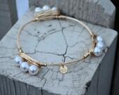 The Southern Belle- pearl bracelet, bangle bracelet, mother gift, daughter gift, graduation, prom, wedding, bridesmaid, birthday, Valentine