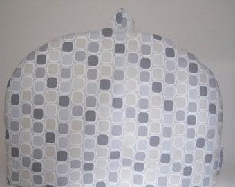 """Tea Cozy (Standard) - """"Classical Elements"""" Squares/Grey"""