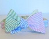 Four-Way Seersucker Bow Tie