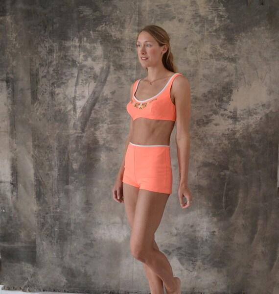 1960s Neon Bikini Swimsuit size M