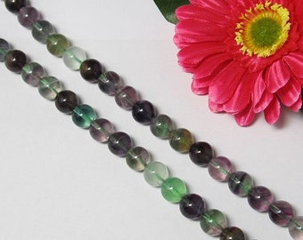 Natural Fluorite 12mm round Loose Beads