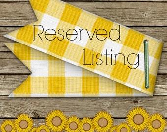 RESERVED LISTING for Cristin /  Deposit on Custom Order + FARMCOOKIES Recipe