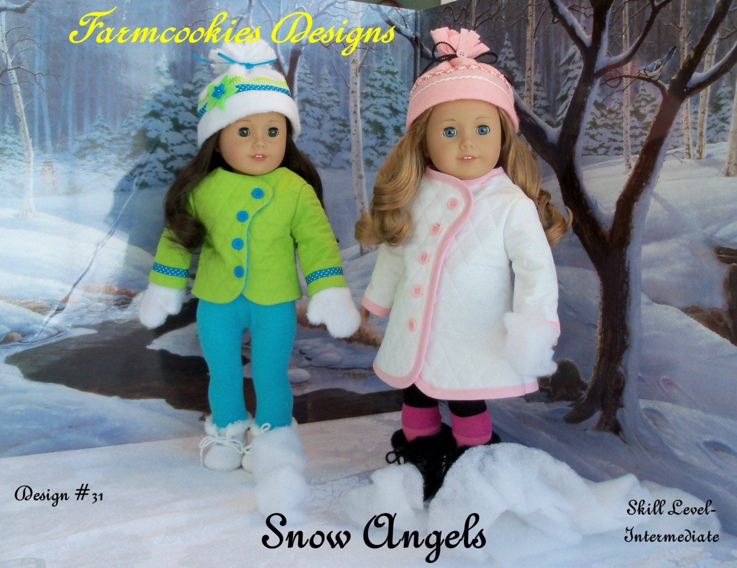 PDF Sewing Pattern / SNOW ANGELS / Winterwear for American Girl Dolls