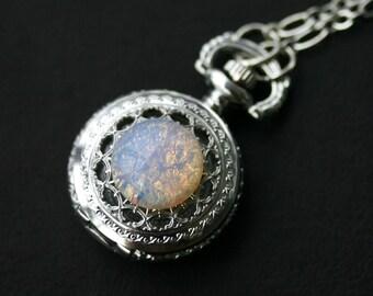 Moon Opal Pocket Watch