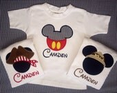 Personalized custom Disney Mickey Mouse shirt - choose from 3 appliqués