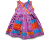 2yr Toddler Dress Lavender Patchwork Dress Baby Girl Sundress Splashy Beach Dress Toddler