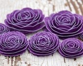 Handmade Grape Spiral Paper Flowers Purple Roses