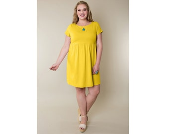 Empire Waist Dress Cotton Jersey Customizable 4 Lengths Misses & Plus Sizes 2-28