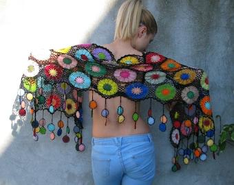 Women Accessories Colorful...charcoal greydark dark gray, amethyst gray background ... Crochet shawl
