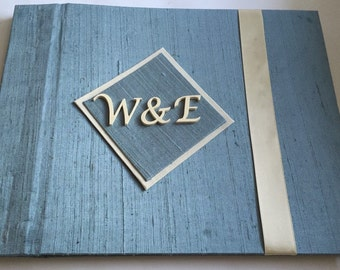 Monogram Guest Book-Unique Wedding Guestbook-Custom Wedding Guest Book-Alternative Guestbook-(Custom Colors Available)