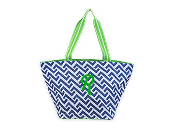 Nautical Tide Large Tote