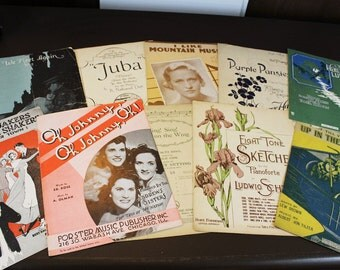 Vintage Sheet Music 1910s - Lot of 10