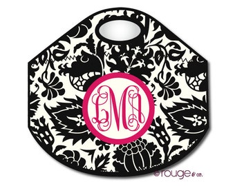 DAMASK monogrammed lunch tote - with customizable pattern and monogram