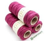 Hemp Twine, Pink - Punk Pink - High Quality 1mm Colored Craft Cord
