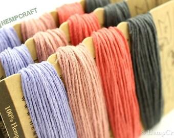 Hemp Cord, English Tea Color Card, High Quality 20lb 1mm Four Pack Craft Cord