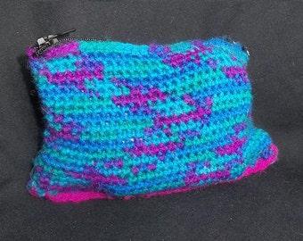 Multi-Coloured Purse or Make Up Bag