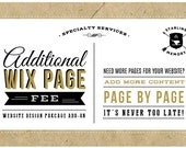 ADDITIONAL Custom Wix WEBSITE PAGE - Wix Website Design Package Add-On