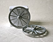 Metal Wheels with Double Hubs and Spokes for Toy Making and Crafting