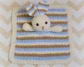 Bunny Lovey, Baby Bunny Security Blanket, Rabbit Lovey, Blankie, READY TO SHIP