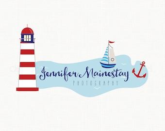 Nautical Logo Design Lighthouse Logo Sailboat Logo Anchor Logo Graphic Design Premade Logo Design Photography Logo Business Logo Design