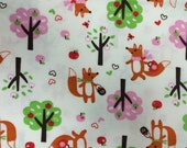 Forest Foxes - FLANNEL - Fabric - BTY