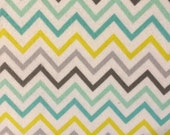 Neutral Chevrons  - FLANNEL Fabric BTY
