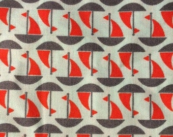By the Sea - Sailboats - Quilting Cotton Fabric - BTY